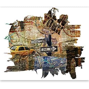 murando Papier peint intiss/é 250x193 cm D/écoration Murale XXL Poster Tableaux Muraux Tapisserie Photo Trompe loeil New York 100404-2
