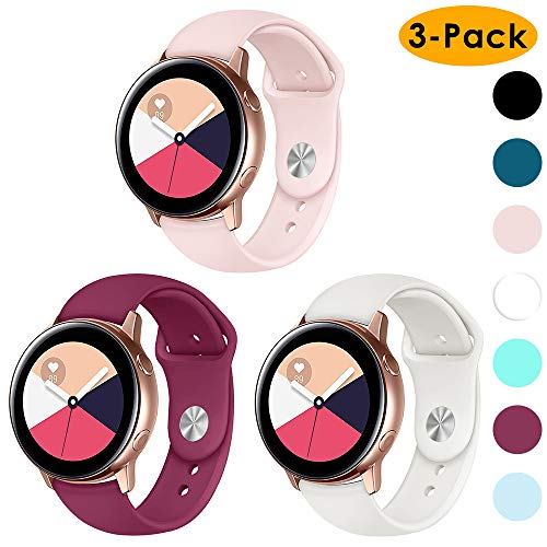 CAVN - Cinturino Sportivo in Morbido Silicone per Samsung Gear 2/Gear Sport/Garmin Vivoactive 3/Huawei Watch 2