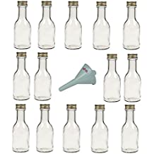 Viva Haushaltswaren - Juego de botellas de cristal (con tapón de rosca 14 unidades 100