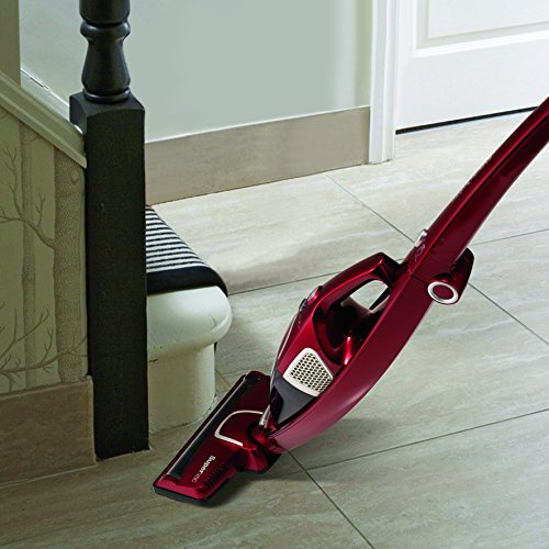510b4gXXcJL. SS500  - Morphy Richards 732005 Cordless Vacuum Cleaner 35 Mins Runtime, Plastic, 100 W, Red