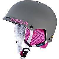 Shred Half Brain Bunny - Casco de esquí unisex, color gris / rosa, talla XS-M