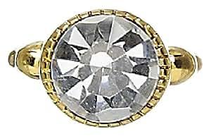 Pilgrim Damen-Ring vergoldet kristall 532-915 größenverstellbar