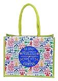 #9: Arihant Marketing Jute Women's Shoulder Bag (Blue & Green)