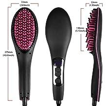 XMDNYE Planchas para el cabello Cepillo alisador de cabello 450F Peine 110V-220V Pantalla digital