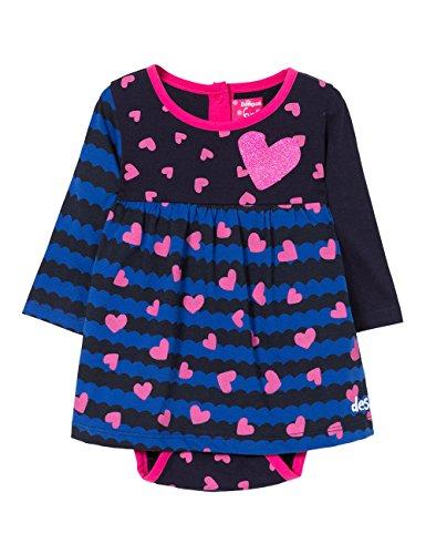 Desigual Vest_Bruna Vestido, Azul (Estado 5127), 74 (Talla del Fabricante: 18) para Bebés