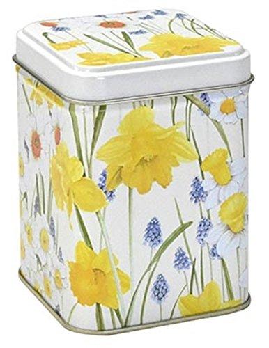 Dose Narzisse 7,1 x 7,1 x 9,3 cm Teebüchse Blume Frühlingsblume