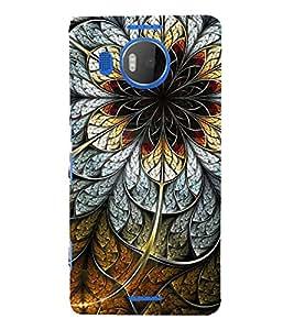 FUSON Steel Flower Black Background 3D Hard Polycarbonate Designer Back Case Cover for Microsoft Lumia 535 :: Microsoft Lumia 535 Dual SIM :: Nokia Lumia 535