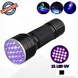 El lobo luna® Linterna/negra, utlra Violet LED 21LED 395nm, UV LED Linterna, UV mascota orina y mancha Detector, encontrar las manchas en la ropa, alfombras o alfombras