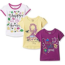 Donuts Baby Girls' T-Shirt (Pack of 3) (272516668_Assorted_06M)