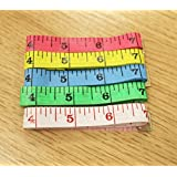 "5 Pcs Measure Tapes,Eggree Soft Colorful 60"" 1.5M 150cm Flat Tape Ruler for Body Measuring Tailor Sewing Colth Dressmaking - Blue,Yellow,Red,Green,White"