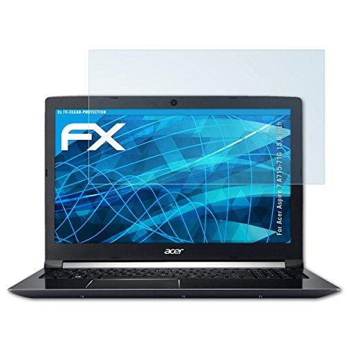 atFolix Schutzfolie kompatibel mit Acer Aspire 7 A715-71G 15,6 inch Folie, ultraklare FX Bildschirmschutzfolie (2X)