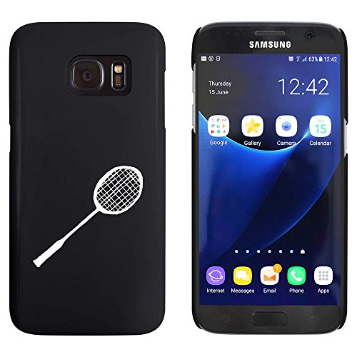 Schwarz 'Badminton Schläger' Hülle für Samsung-Galaxie S7 (MC00025211)