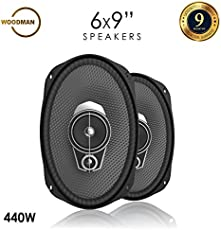 Woodman 6x9 Inch Oval (440 Watts - 3 Way Speaker) WM-6952 Coaxial Car Speaker