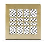 Lüftungsgitter Luftgitter Warmluftgitter Kamin Gitter - Retro Gold (Nero Elegant Style) verschiedene Größen 17x17cm 17x30cm 17x40cm - mit oder ohne Lamellen
