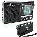 Radio radiolina FM AM portatile 7 bande frequenza CMik KK-9 audio TV NERA immagine