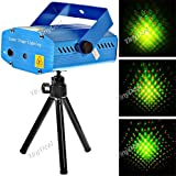 Sound Activated Disco Music Stage Mini Laser Projector Light with Red Green Light for Party Disco Club FLP-203967
