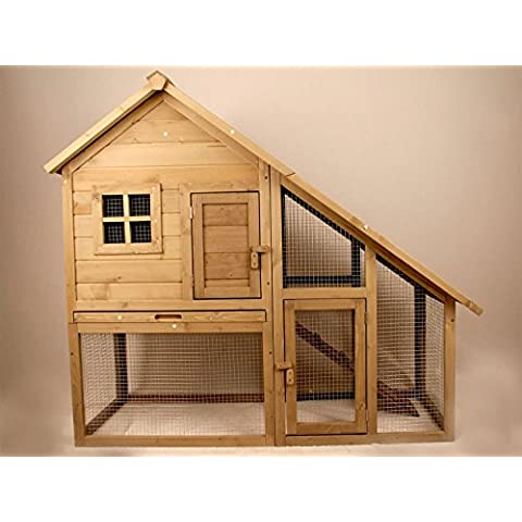 Hoddmimis Pet Supplies Wooden Backyard Chicken Coop Hen house Poultry Cage with Sloped Roof - Penthouse Cat