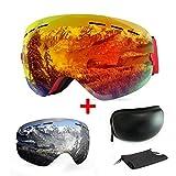 Skibrille, mit Beschlag-