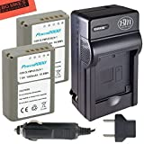 2-Pack-Fully-Decoded-BLN1-Batteries-and-Battery-Charger-Kit-for-Olympus-Pen-F-OM-D-E-M1-OM-D-E-M5-OM-D-E-M5-Mark-II-OM-D-E-P5-Digital-SLR-Camera