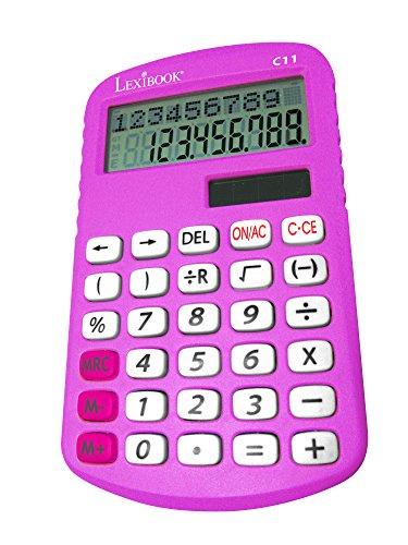 Lexibook C11Z-Taschenrechner mit Doppelzeile für die Grundschule (Taschenrechner Spielzeug)