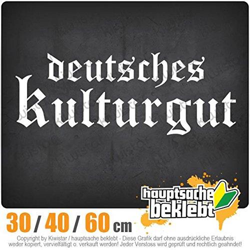 KIWISTAR - Deutsches Kulturgut Altdeutsch Heckscheibenaufkleber Carsticker Decal