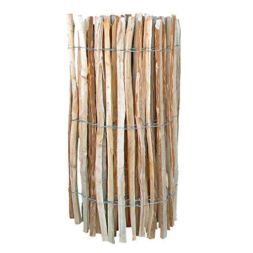 *Staketenzaun Länge 500 cm Höhe 120 cm Abstand 7-8 cm Haselnuss Lattenzaun Gartenzaun von Gartenpirat®*