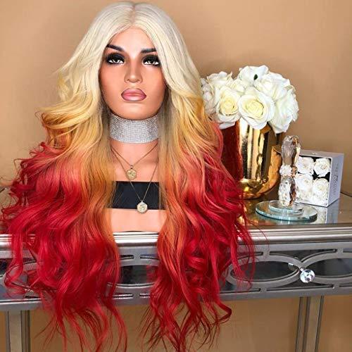 ange Lockige Gerade Gewellte Synthetische Volle Rosa Lila Cosplay Perücke-Haar Falsche Perücke ()