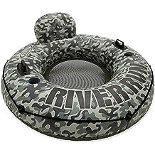 INTEX River Run - Flotador con asiento, 135 cm diametro, verde