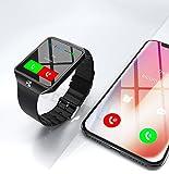 Montre Connectée compatible avec Apple iOS Samsung Android et Windows Bluetooth 4.0 Multi-Fonctions Santé Sport Musique Appels SMS Agenda. Modèle 2018