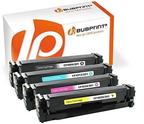 Color Hp Laser Drucker (Bubprint 4 Toner kompatibel für HP CF400X CF401X CF402X CF403X 201X für Color Laserjet Pro M252DW M252N M274N M274DN MFP M277DW MFP M277N BK C M Y)