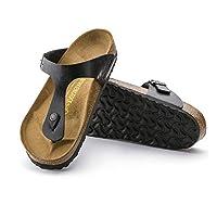 Der BIRKENSTOCK Gizeh, ein echter Klassiker, hat sich längst zu einem unverzichtbaren Fashion-Item entwickelt. Fashion und Funktion gehen bei dieser Zehensteg-Sandale eine gelungene Verbindung ein. Der individuell verstellbare Riemen mit Schn...