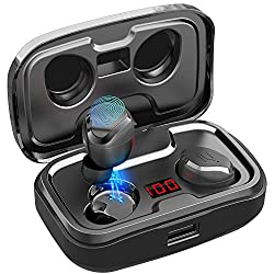 AIKELA Bluetooth headphones wireless in ear, wireless headphones sport earphones Bluetooth 5.0 headset with LED digital display, 140 hours play time, IPX7 waterproof, microphone for iPhone Android etc