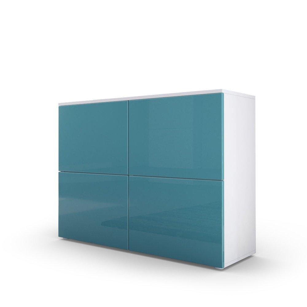 Comò moderno Skate, mobile soggiorno di design bianco,credenza per ...