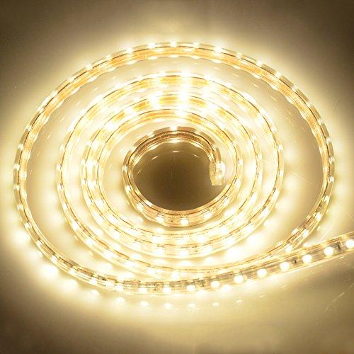 IDEALEBEN LED Streifen Lichtband 5050 LEDs Strip Leiste, 3M ,Warmweiß, IP65 [Energieklasse A+]