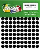 480 Klebepunkte, 15 mm, schwarz, aus PVC Folie, wetterfest, Markierungspunkte Kreise Punkte Aufkleber