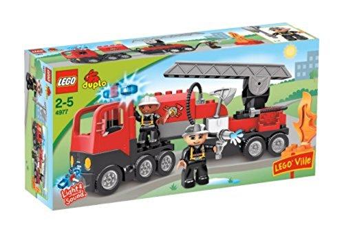 feuerwehrauto lego duplo LEGO Duplo 4977 - Feuerwehrlöschzug