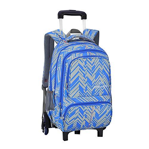 Yudesun Koffer Rucksäcke Taschen Kinderrucksäcke - Schultrolley Schulranzen Kinder Trolley Sechs Räder Abnehmbar Rollen Treppenlaufkatze Reisekoffer Tasche