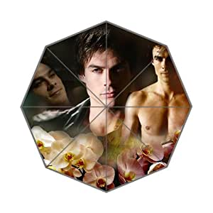 Popular US Actor&Model Ian Joseph Somerhalder Background Triple Folding Umbrella!43.5 inch Wide!Perfect as Gift!