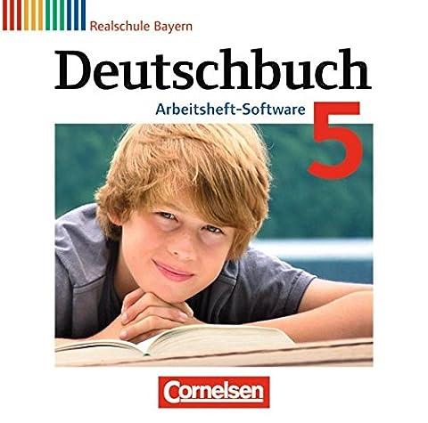 Deutschbuch 5. Jahrgangsstufe. Übungs-CD-ROM zum Arbeitsheft. Realschule Bayern
