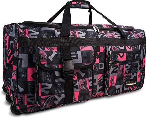 normani Leichte XXL Reisetasche Rollenreisetasche Trolley Sporttasche mit Rollen Farbe New York