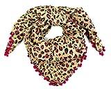 schickes Rockabilly Tuch Schal Halstuch Leoparden Muster LEO BEIGE PINK