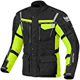 Berik Torino wasserdichte Motorrad Textiljacke 50 Schwarz/Neon