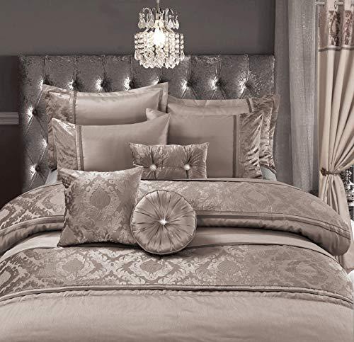 Skippys Alhambra Beige Luxus Bettwäsche 200x200 cm 7 TLG. Set Beige Bettbezug 200x200 cm + 2X Kissenbezug 50x75cm + Spanbettuch +Kissens