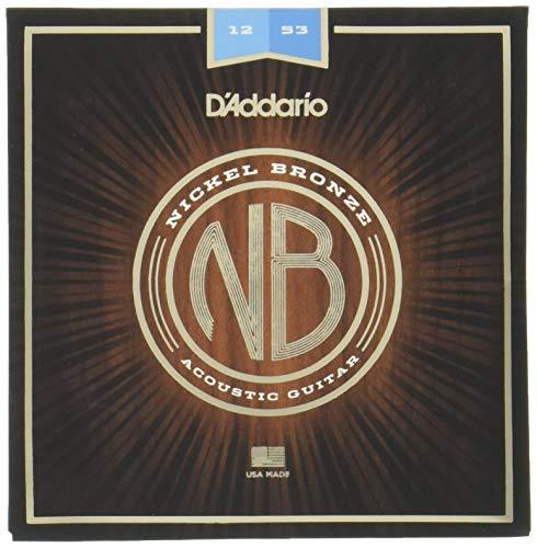 D'Addario NB1253 Nickel Bronze Akustik Gitarre Saiten (Light, 12-53)