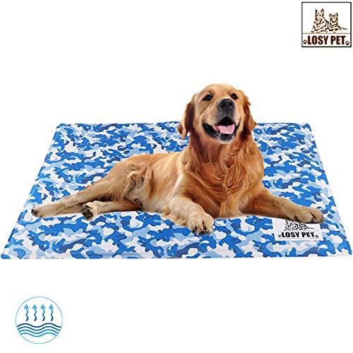 LOSY PET Alfombrilla de Refrigeración para Mascotas Alfombra de Gel no Tóxica Cama de Verano para Perros y Gatos Manta Fría para Animales 64×50cm
