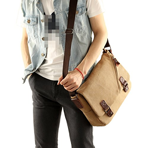 Borse A Tracolla Casuale Spalla-rate-daypack Mens Bag Fionda, Sport Delle Donne, Lavoro, Scuola, Viaggiare Retrò Borse Di Tela Mr Brown