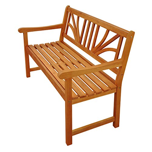 """Indoba Gartenbank, 2-Sitzer """"Lotus"""" – Serie Lotus, braun, 120 x 61 x 88 cm, IND-70103-GB2 - 4"""