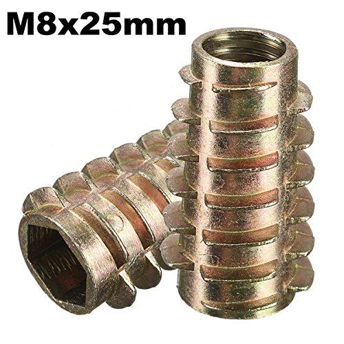 RanDal 5Pcs M8X25Mm Tornillo De Accionamiento Hexagonal En Inserto Roscado Para Tipo...