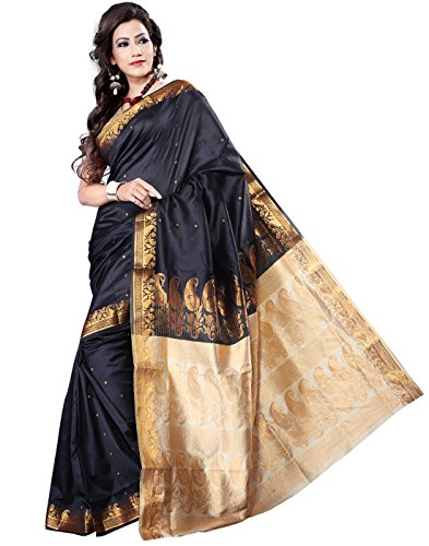 E-Vastram Silk Saree (Krpb _Black)