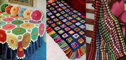Hell und schön gehäkelten afghanischen Muster